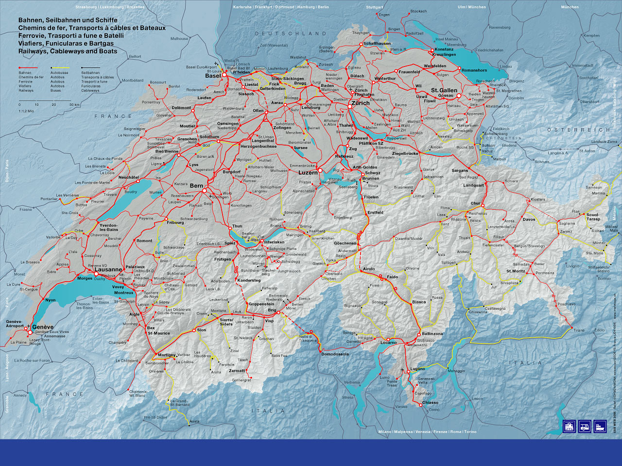 Ferienhaus Montanara – Swiss Travel System Map